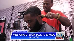 local barbershop giving away haircuts for back to