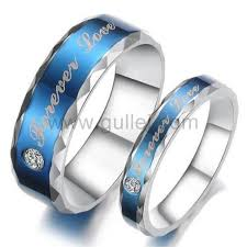 couples rings titanium images Custom name love forever titanium promise rings set for 2 jpg