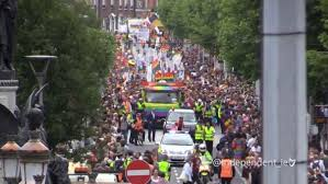 VIDEO  Thousands march in Dublin     s first LGBT Pride Parade since Ireland     s Marriage Referendum Irish Independent