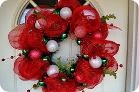 christmas mesh wreaths like way turned out made deco mesh wreath tierra este