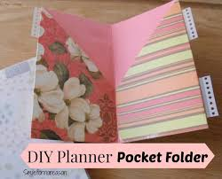 your own planner smile for no reason how to make your own planner pocket folders