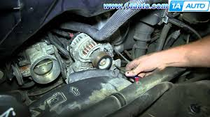 how to install replace alternator gmc savana chevy express with