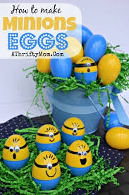 Easy Easter Egg Decorating For Toddlers by Homemade Minions Easter Eggs Diy Easter Egg Decorating Ideas