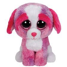 ty beanie boos sherbet dog glitter eyes regular size 6