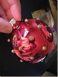 pour paint ornaments acrylic paint and glass balls pour