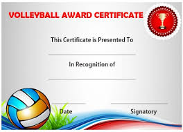25 volleyball certificate templates free printable documents