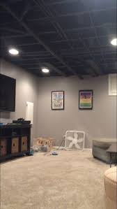 Painted Concrete Basement Floor by Best 20 Exposed Basement Ceiling Ideas On Pinterest Unfinished
