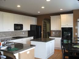 black white shabby chic painted kitchen cabinets in brown interior