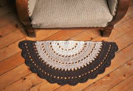 Design Ideas For Half Circle Rugs Stylist Design Ideas Half Circle Rug Beautiful Crochet Small Boho