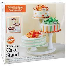 cake tier 3 tier pillar cake stand white 6681909 hsn