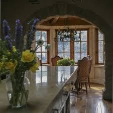 Transitional Dining Room Sets San Francisco Stone Arch Dining Room Mediterranean With Kitchen