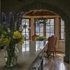 san francisco stone arch dining room mediterranean with kitchen