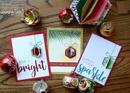 tip 3d ornament cards with hexagon dies sting