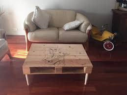 Wooden Pallet Coffee Table Pallet Coffee Table With Sketch Art 99 Pallets