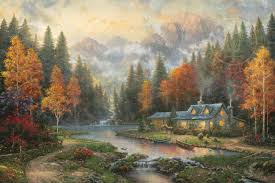 thomas kinkade signed and numbered limited edition print and hand
