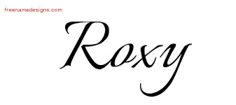 roxy archives free name designs