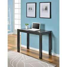 idabel dark brown wood modern desk with glass top ospdesigns glass top and espresso base desk tri2542g the home depot