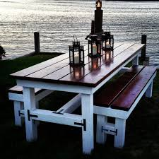 Design For Wooden Picnic Table by Best 25 Outdoor Tables Ideas On Pinterest Farm Style Dining