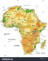 Niger Africa Map by Africaphysical Map Stock Vector 444223906 Shutterstock