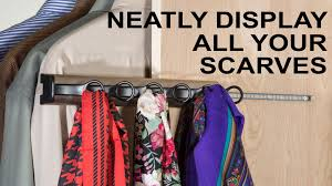 neatly display clothing accessories hafele synergy scarf rack
