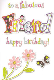 to a special friend birthday card cute traditional female choose