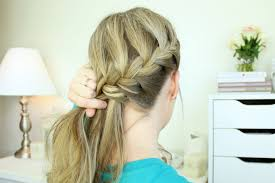 plait at back of head hairstyle around french side braid
