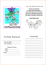 Funeral Ceremony Program 9 Memorial Service Program Template Authorizationletters Org