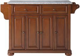 amazon com crosley furniture alexandria kitchen island with solid