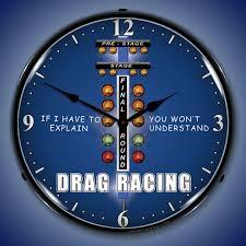 themed wall clock drag racing clocks lighted wall clocks garage clocks