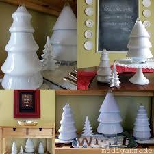glass christmas tree candy jar christmas lights decoration