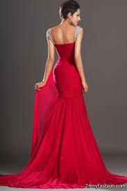 red mermaid prom dress 2017 2018 b2b fashion