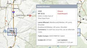 map of hwy 58 oregon fatal crash involving motorcycle log truck on hwy 20 east of