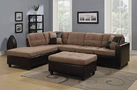 Reversible Sectional Sofas Coaster 505675 Mallory Reversible Sectional Sofa In Chocolate And