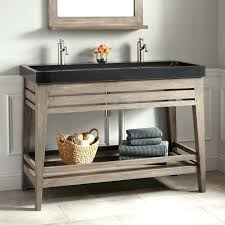 Sink With Double Faucet Trough Vanity Sink U2013 Meetly Co