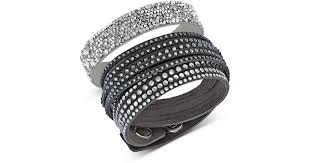 swarovski set bracelet images Lyst swarovski leisure bracelet set in metallic jpeg
