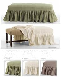 Covers For Ottomans Ottomans Rectangle Ottoman Slipcover 40 Inch Ottoman Slipcover