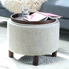 Tray Ottoman Coffee Table Cool Leather Ottoman With Tray Taptotrip Me