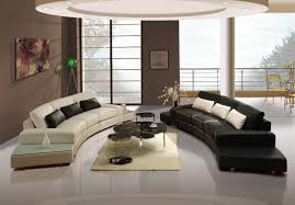 Curve Sofas Living Room Modern Living Room Design With Curve Black And White