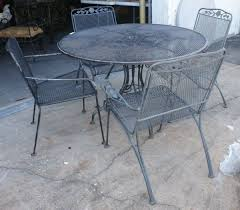 Wrought Iron Patio Chairs Great Vintage Patio Table And Chairs Wrought Iron Outdoor
