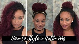 partial sew in hairstyles for synthetic hair summer hairstyles using a half wig outre penny youtube