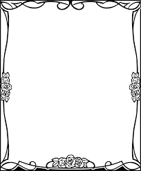 Free Halloween Borders And Frames Page Border Designs Flowers Black And White Free Download Clip