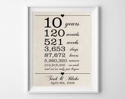 10 year anniversary gift for 10 year wedding anniversary gift ideas for wedding gifts