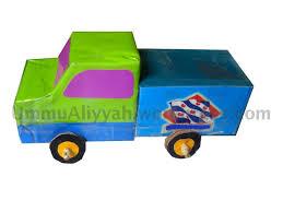 membuat miniatur mobil dari kardus tutorial membuat mobil dari kotak susu bekas ummu aliyyah ath thabrani