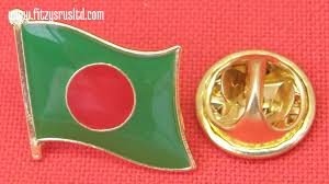 Bangladesi Flag Bangladesh Country Flag Lapel Hat Tie Pin Badge Gnoprojatontri