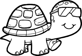 glasses tortoise turtle coloring page wecoloringpage