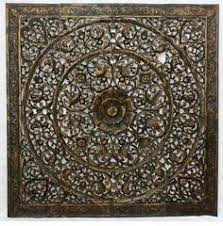 carved floral wall decor unique asian wood wall