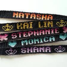 friendship bracelet with name images Handmade name message friendship bracelet band design craft on jpg