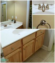 Bathroom Sink Makeover - traditional americana guest bathroom makeover the turquoise home