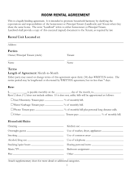room for rent contract template examples