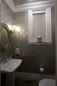 Bathroom Wall Stencil Ideas Stencil Squares With Metallic Paint For A Bit Of Sparkle Click